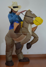 ride on horse inflatable suit adult inflatable horse costume