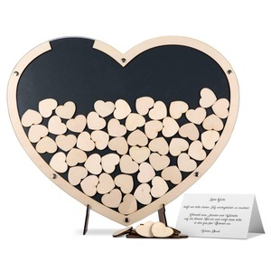 china supplier wood wedding guestbook