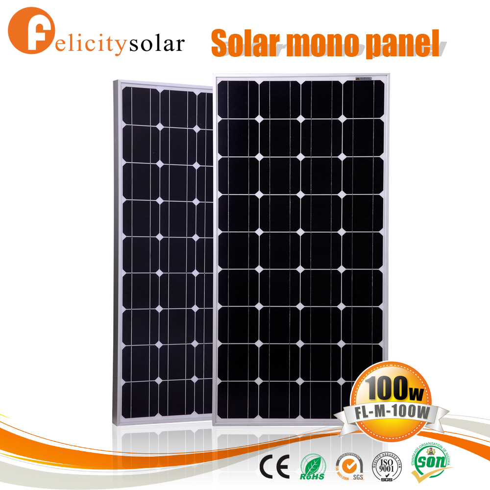 hot sale factory price photovoltaic panel 100w for solar roof system