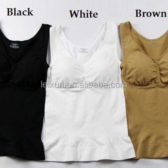 Sexy Slim body Shaper lady camisole by seamless bra with pad