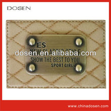 tags for garments,jeans pu leather patches,famous brand luggage logo