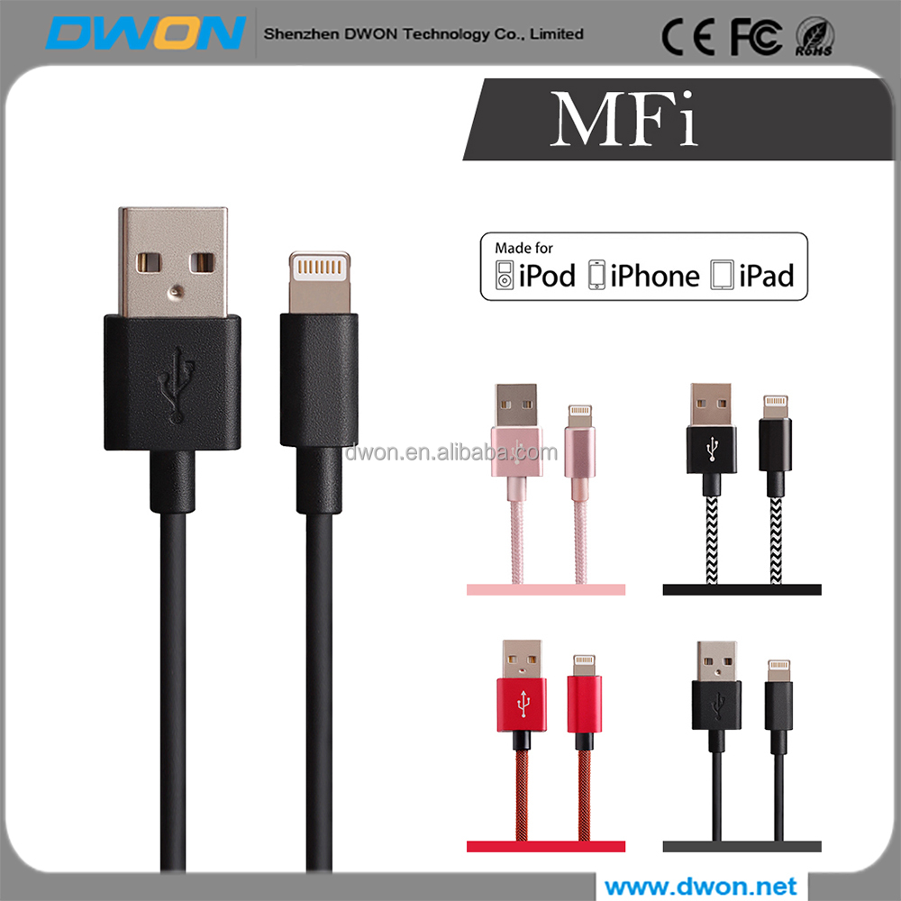MFI USB cable for iPhone 7/6/6s/5s Durable fast charging sync USB cable for iPad