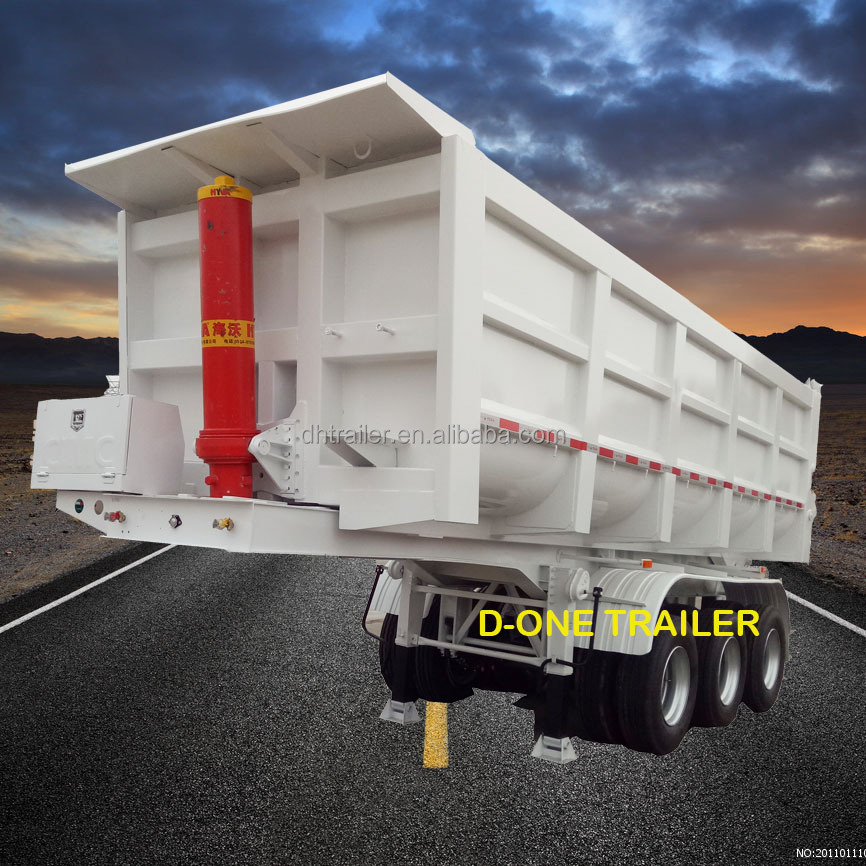 Alibaba Recommended 3 Axles 40 Ton CIMC Dump Truck Tipper Trailer For Sale