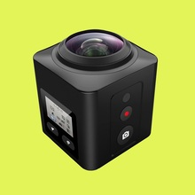 Waterproof Cube 360 H.264 1080P Sports Action Camera wifi build in panorama 360 Degree Action Sports Camera