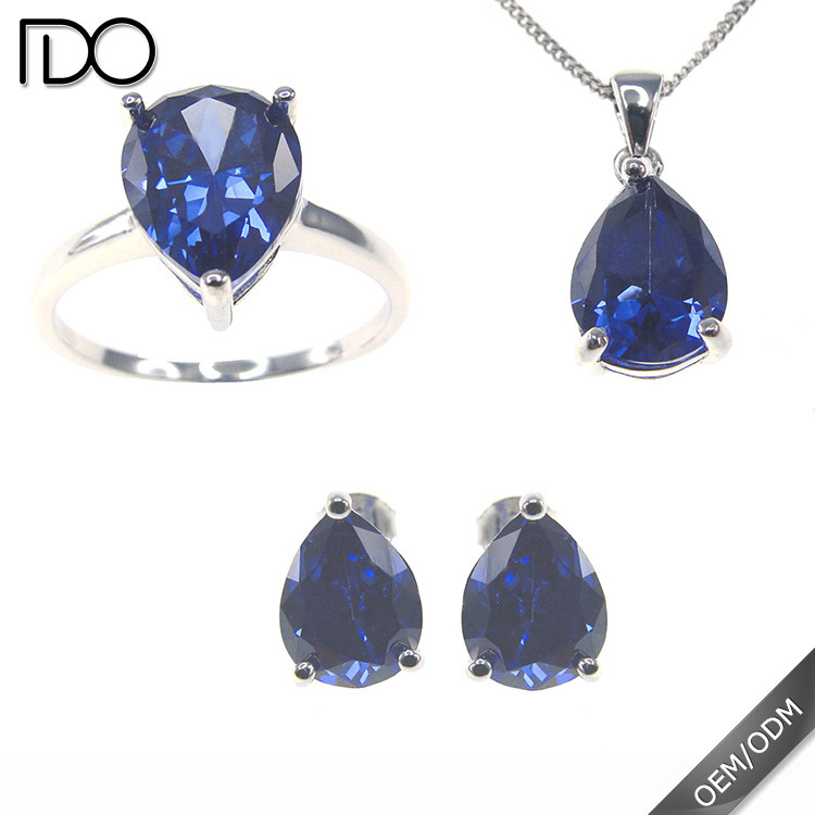 Competitive price tanzanite color wedding jewelry with heart design zircon