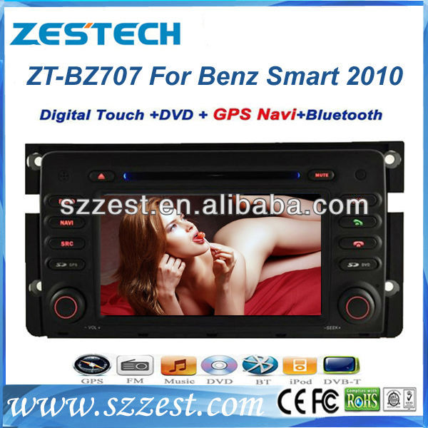ZESTECH For New Mercedes Benz Smart Car DVD GPS Radio Player with DVD GPS Navigation car radio for Mercedes Benz Smart fortwo