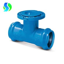 Ductile iron double socket loosing flange branch tee