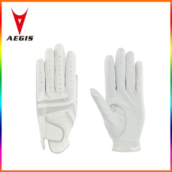 Golf Equipment Golfing Gloves Gabretta Leather white embroidery logo elegance