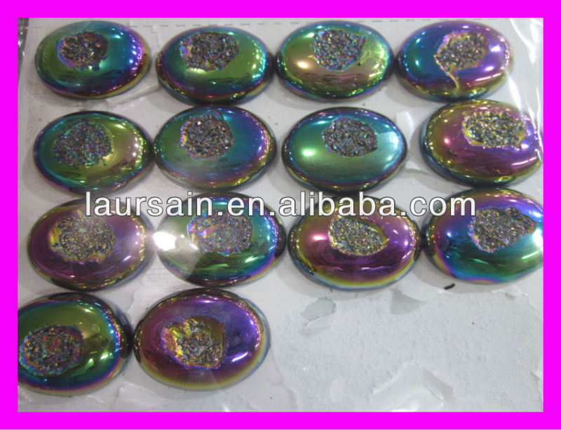 LS-D1381 natural drusy agate stone, windows druzy stone