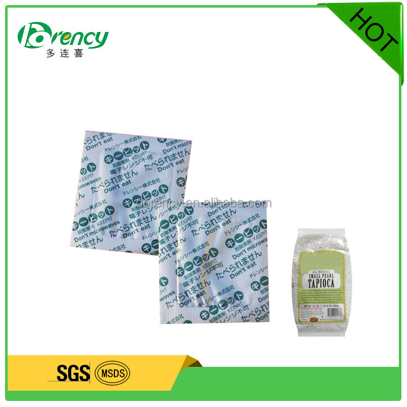 Water Dependent Oxygen Absorber for Long Term Food Storage package oxygen scavenger