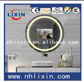 Illuminated LED mirror, compact mirror with LED light for hotel used