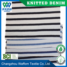 Factory Supply Cheap stripe stretch denim fabric for shirts