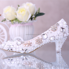 Women Shoes Handmade female noble diamond sexy fashion women's high heels Wedding Shoes EU34-39 MS929