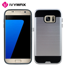 IVYMAX Luxury Brushed Design Soft TPU+PC Case Cover For Samsung Galaxy S7 G930 Phone