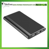 Fashionable design super slim 5000mAh portable power bank charger