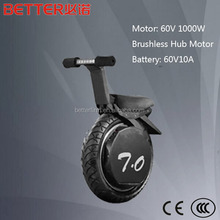 One-Wheel Motorcycle 17inch Vacuum Tire Self Balance With LED Headlight