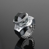 China wholesale charm fashion digital finger watch ring,quatrz finger ring watch for gift promotion
