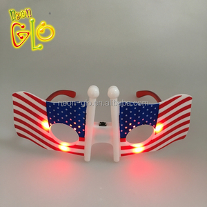 25cd6d51992 Unisex Flashing LED American Flag Glasses for 4th of July
