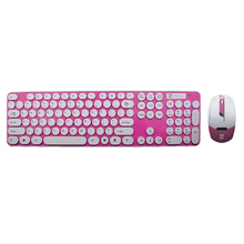 Pink Wireless Keyboard and Mouse