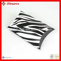 Customized logo to zebra print pillow box