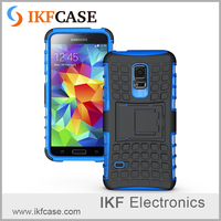 2 in1 Phone Case Heavy Rugged TPU+PC Anti-Slip Pattern Kickstand Armor Cover for Samsung Galaxy S5 Mini G800