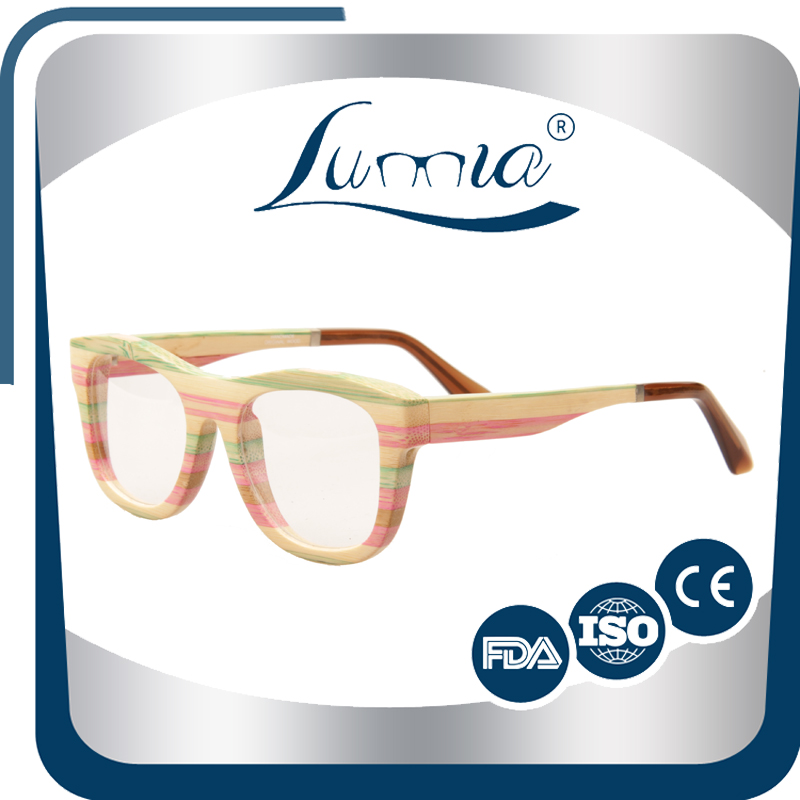 bamboo custom glasses round shape optical frame