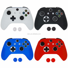 Silicone Skin Protective Cover Joystick Joypad Gamepad Case Skin Cover For Xbox One S Slim Controller with 2 Thumbsticks Caps