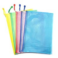 Wholesale custom PVC EVA mesh pouch a4 b4 size file cover