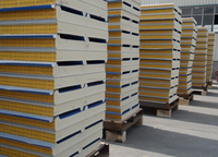 100mm insulated pu (polyurethane)foam colorful steel roof sandwich panel
