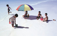 super white sand for children's play in kid's swimming pool and beach places