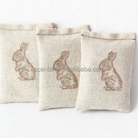 Lovely rabbit embroidery linen lavender/potpourri scents freshener your room