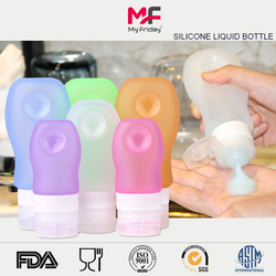 Wholesale BPA free Collapsible small slicone travel shampoo container