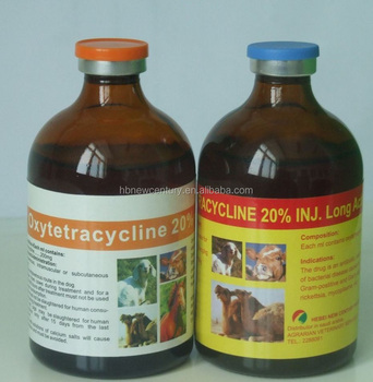 Oxytetracycline Injection 20% LA for animal use only