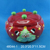 Decorative santa claus design ceramic divided container with lid