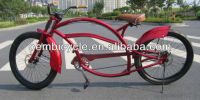 24 inch long frame beach cruiser chopper bike