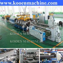 PE HDPE PP PVC plastic double wall corrugated corrugating pipe hose making machine production line