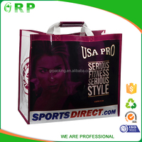 Reusable tote green bag for supermarket custom logo pp shopping bag