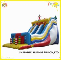 Outdoor central park sports commercial kids PVC inflatable princess water slide with safe roof price