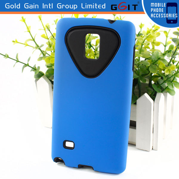 for Samsung Note 4 2 in 1 Back Cover Case of TPU+PC Material