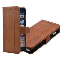 Leather Kickstand Wallet Case with Credit Card Slots for iPhone 7 Plus