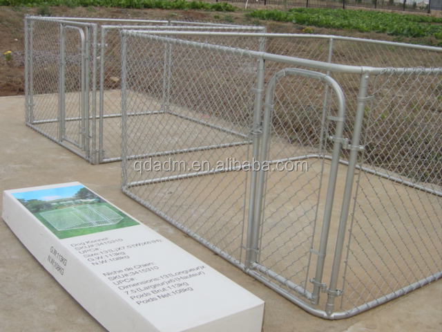 Heavy duty steel hot dip galvanized chain link dog pen
