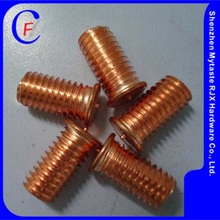 Copper plating Steel M3 stud welding,Cheese head studs for arc stud welding