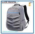 New Style Fashion Gray Backpack Diaper Bag for Dad
