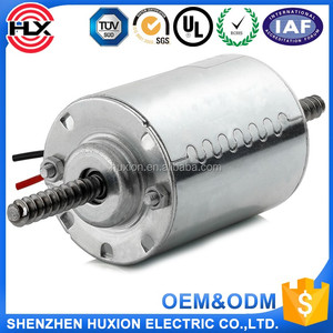 12v dc motor with dual shaft,double output shaft dc motor 5000rpm for table