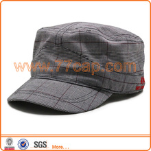 good quality military hat with Scottish fabric