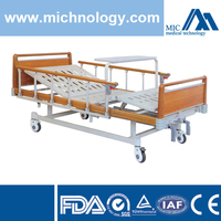 Lacquer Wood Fence Rolling Hospital Bed