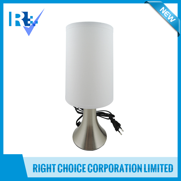 Household Appliances D10 X H30 cm Pair of Stainless Steel Modern Table Touch Lamp