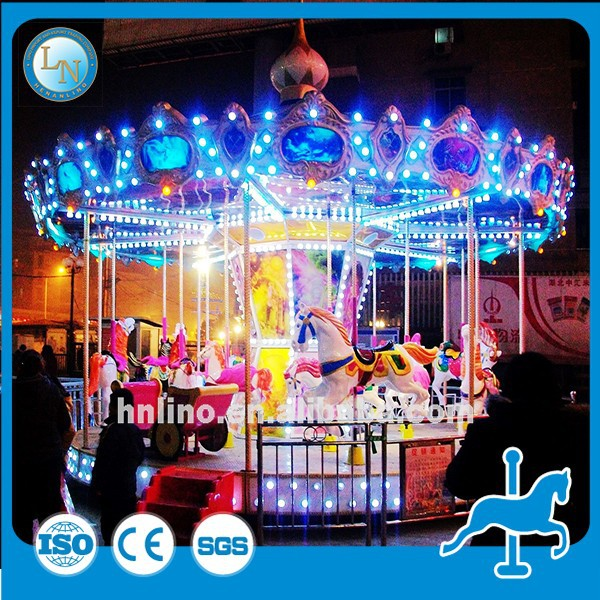 Christmas cheap single fiberglass carousel horse music box!China Suppliers carousel rides for sale