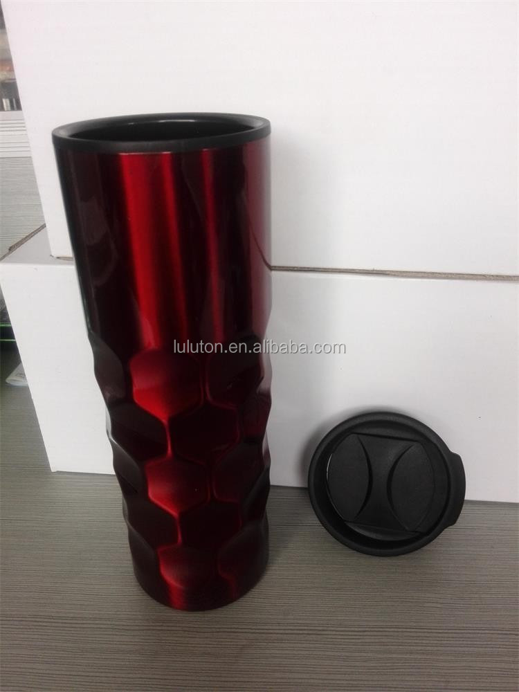 food grade outer stainless steel inner plastic travel mug