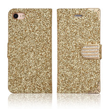 C&T Glitter Bling Diamonds PU Leather Flip Card Slot Holder Magnetic Folio Wallet Cases for iPhone 7